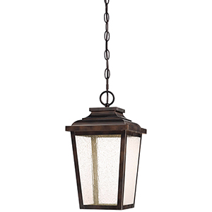 Irvington Manor LED Chelesa Bronze 9-Inch LED Outdoor Pendant