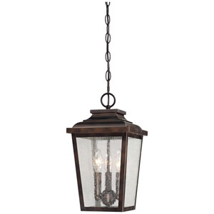 Irvington Manor Three-Light Outdoor Chain Hung in Chelesa Bronze