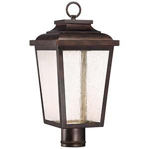 Irvington Manor LED Chelesa Bronze 9-Inch LED Outdoor LED Post Mount