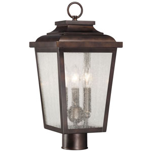 Irvington Manor Three-Light Outdoor Post Mount in Chelesa Bronze