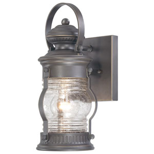 Lynnfield One-Light Outdoor Wall Mount in Oil Rubbed Bronze