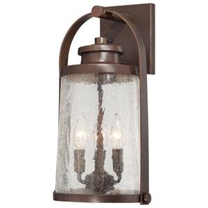 Travessa Architectural Bronze Three-Light Wall Lantern w/Copper Highlights