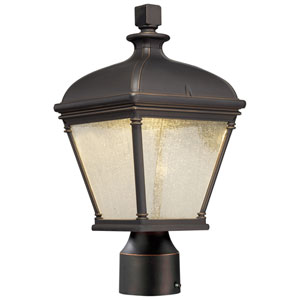 Lauriston Oil Rubbed Bronze with Gold Highlights One-Light Outdoor LED Post Mount