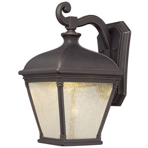 Lauriston Manor Oil Rubbed Bronze with Gold Highlights LED Outdoor Wall Mount