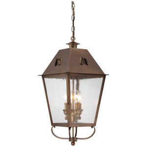 Edenshire English Brass Four-Light Outdoor Hanging Pendant