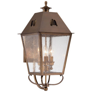Edenshire English Brass Four-Light Outdoor Wall Mount
