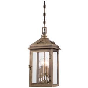 Eastbury Colonial Brass Four-Light Outdoor Pendant