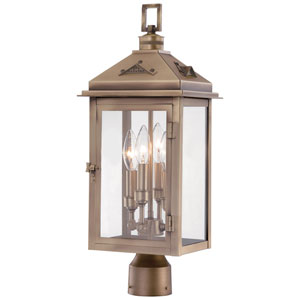 Eastbury Colonial Bronze Four-Light Outdoor Post Mount