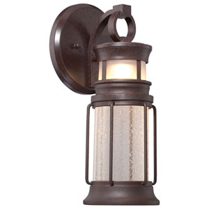 Garreston Pointe Architectural Bronze 14.5-Inch One-Light Outdoor LED Sconce
