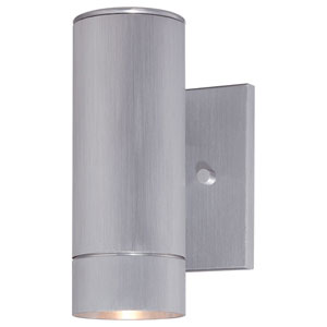 Skyline Brushed Aluminum One-Light Outdoor LED Wall Mount