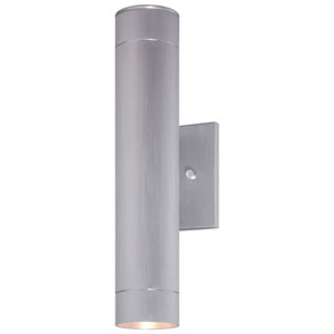 Skyline Brushed Aluminum Two-Light Outdoor LED Wall Mount