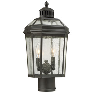 Hawks Point Oil Rubbed Bronze Two-Light Outdoor Post Mount