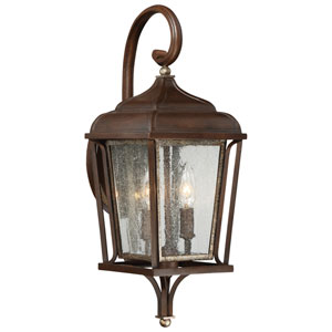 Astrapia Ii Dark Rubbed Sienna with Aged S Two-Light Outdoor Wall Mount
