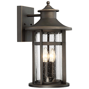 Highland Ridge Oil Rubbed Bronze 10-Inch Four-Light Outdoor Wall Lamp