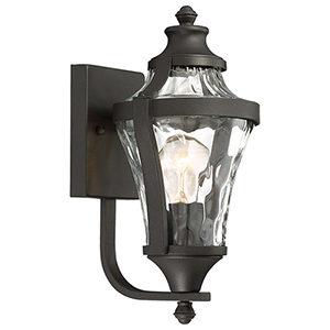 Libre Black 7-Inch One-Light Outdoor Wall Lamp