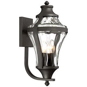 Libre Black 11-Inch Four-Light Outdoor Wall Lamp
