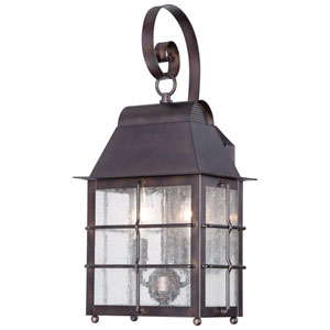 Willow Pointe Chelesa Bronze Two-Light Outdoor Wall Mount
