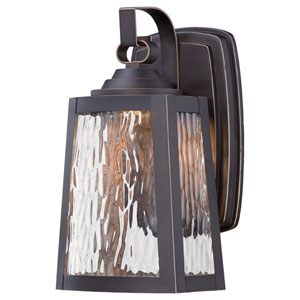 Talera Oil Rubbed Bronze with Gold Highlights 10.75-Inch LED Outdoor Wall Mount