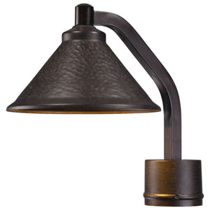 Kirkham One-Light LED Outdoor Post Mount in Aspen Bronze with Metal Shade