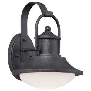Crest Ridge Forged Silver 10-Inch One-Light Outdoor LED Wall Sconce