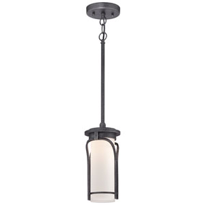 Holbrook Forged Stone Silver 5-Inch One-Light Outdoor LED Mini Pendant