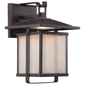 Hillsdale Dorian Bronze 7-Inch One-Light Outdoor LED Wall Lantern