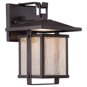 Hillsdale Dorian Bronze 9-Inch One-Light Outdoor LED Wall Lantern