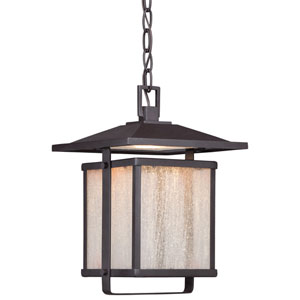 Hillsdale Dorian Bronze 9-Inch One-Light Outdoor LED Hanging Lantern