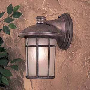Cranston Rust Large Fluorescent Outdoor Wall Light