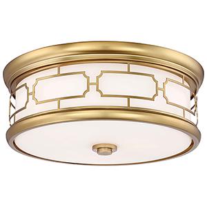Liberty Gold 16-Inch Three-Light Flush Mount