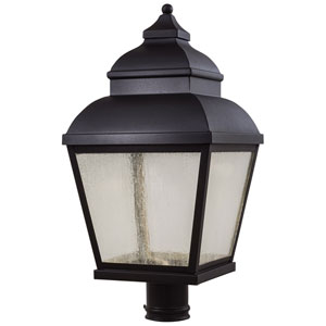 Mossoro Portsmouth Black 23.5-Inch High LED Outdoor Post Mount