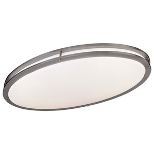 Brushed Nickel Two-Light Title 24 Flush Mount