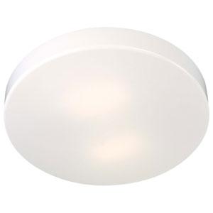 White Two-Light Title 24 Flush Mount