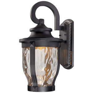 Merrimack One-Light LED Outdoor Wall Mount in Black