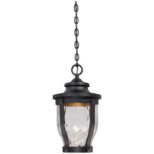 Merrimack One-Light LED Outdoor Chain Hung in Black