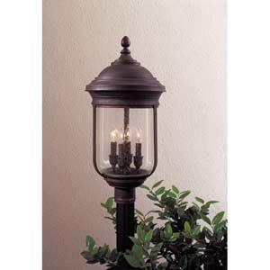 Amherst Brass Post Mount Light