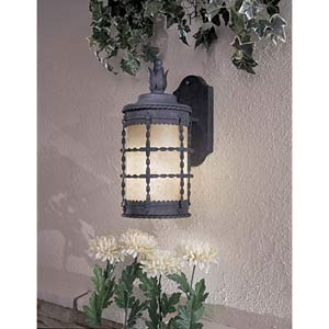Mallorca Spanish Iron Small Fluorescent Outdoor Wall Mount