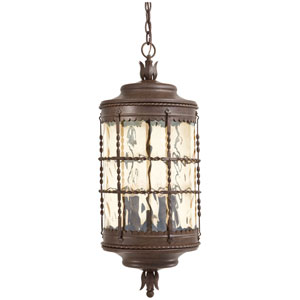 Vintage Rust Five-Light Outdoor Pendant
