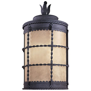 Mallorca Spanish Iron Fluorescent Outdoor Wall Sconce