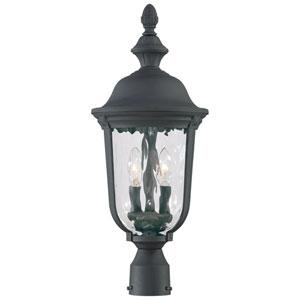 Ardmore Black Three-Light Post Mount Lantern