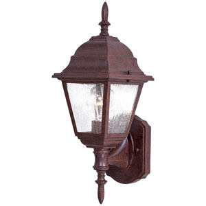 Bay Hill Antique Bronze One-Light Bottom Mount Outdoor Wall Mount