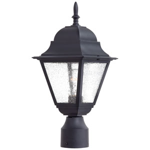 Bay Hill Black One-Light Outdoor Post Mount