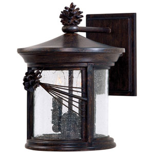 Abbey Lane Iron Oxide Two-Light Outdoor Wall Mount