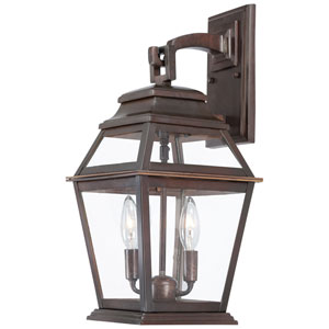 Crossroads Point Architectural Bronze Two-Light Outdoor Post Mount