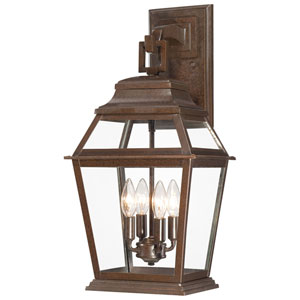 Crossroads Point Architectural Bronze Four-Light Wall Lantern
