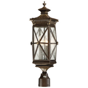 Rue Vieille Forged Bronze Four-Light Outdoor Post Mount