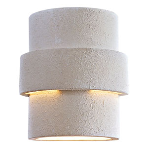 White Ceramic One-Light Dark Sky Wall Sconce