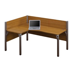 Pro-Biz Cappuccino Cherry 43-Inch High Single Left L-Desk Workstation