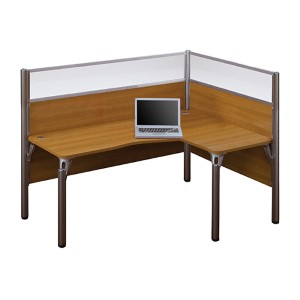 Pro-Biz Cappuccino Cherry 55.5-Inch High Single Right L-Desk Workstation