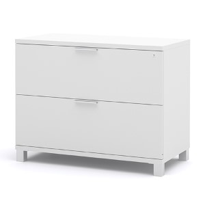 Pro-Linea White Assembled Lateral File Cabinet